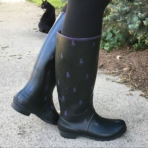 Polo Ralph Lauren Pony Rain boots 8 Proprietor